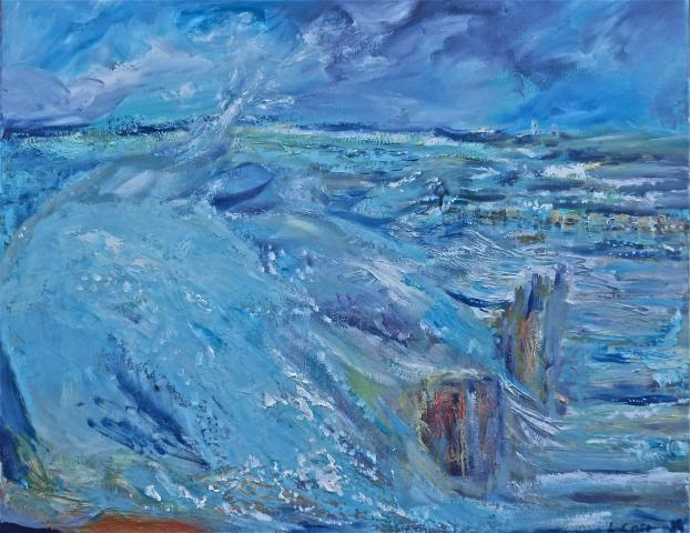 oil on canvas mundesley beach